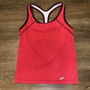 Pink Brooks exercise workout tank top, size Small